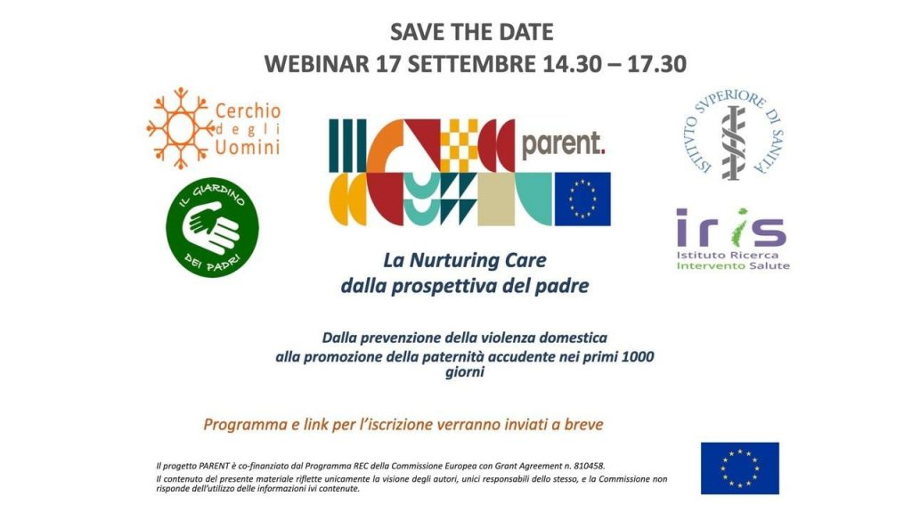 Webinar La Nurturing Care nella prospettiva del padre, venerdì 17 settembre dalle 14.30 alle 17.30